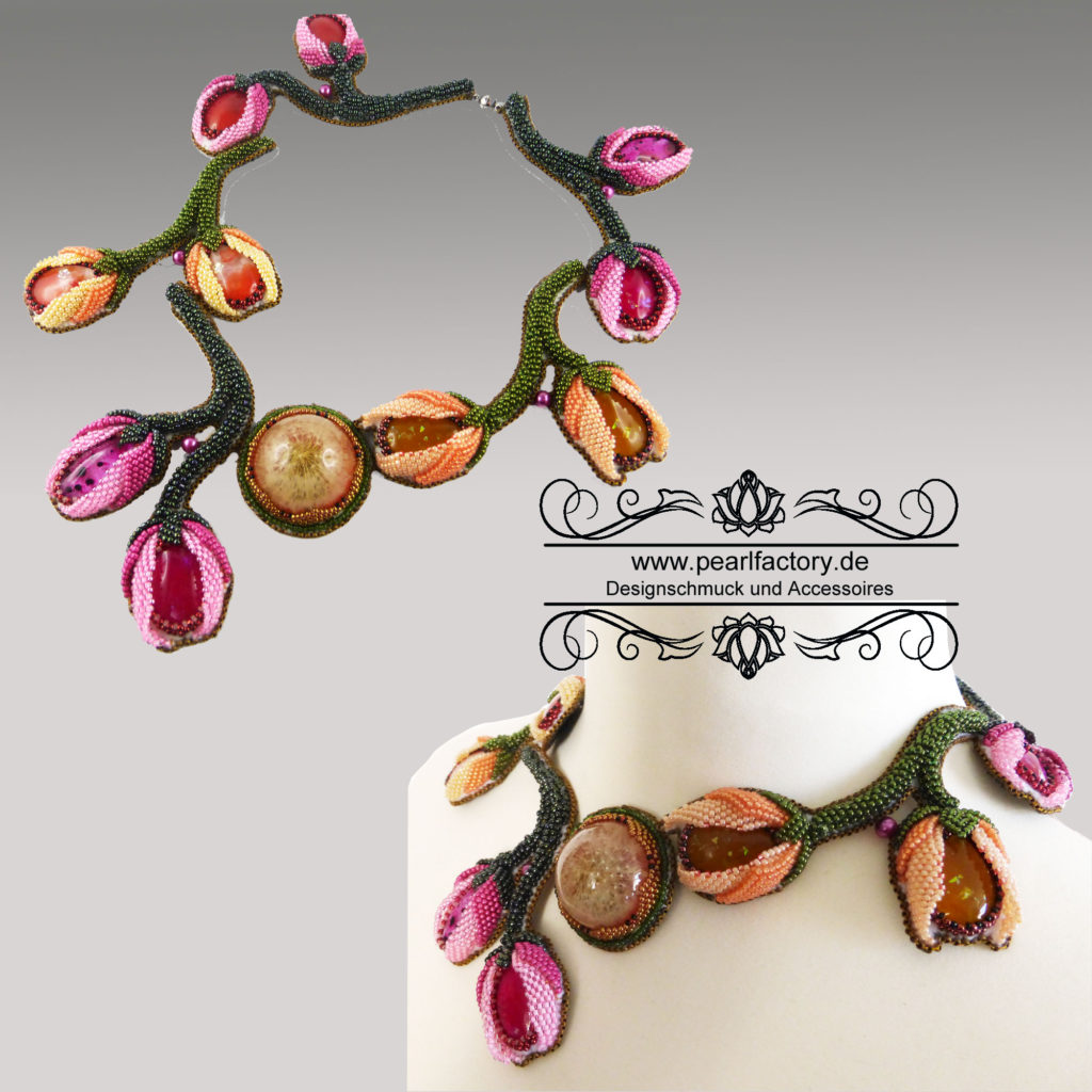 collier-halskette-bead-embroidery-resin-tulip-1