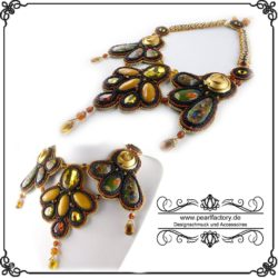 collier, halskette, kette, bead embroidery