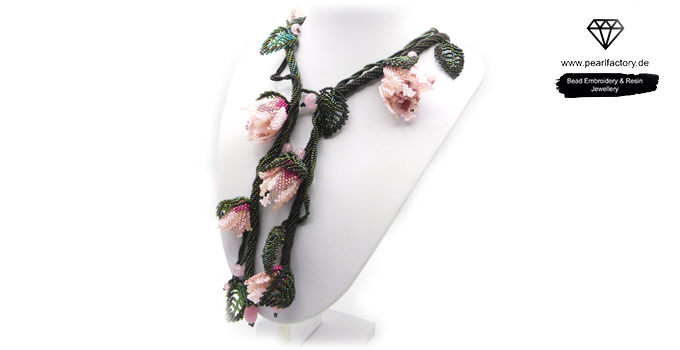 lariat y halskette rosen